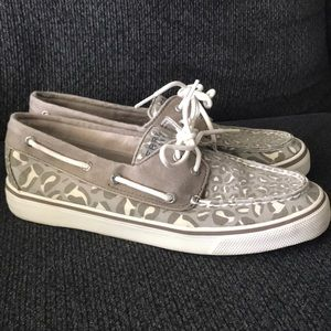 Sperry Top-Sider Leopard canvas boat shoe